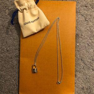 NEVER WORN Louis Vuitton Silver Lockit Pendant